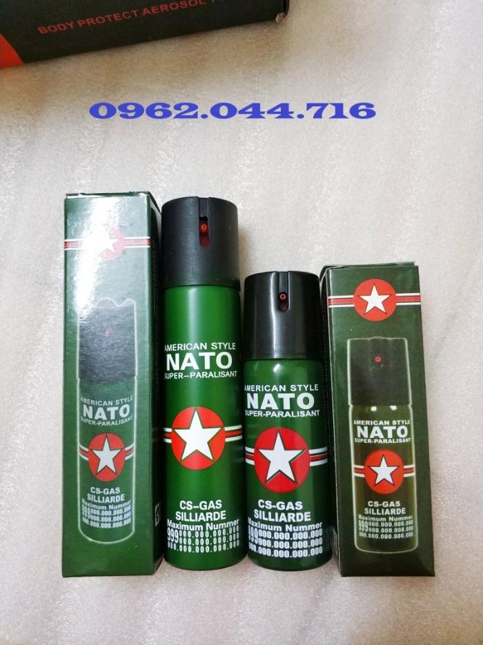 Xịt cay Nato nhỏ được sử dụng nhằm mục đích tự vệ cá nhân, kiểm soát bạo loạn