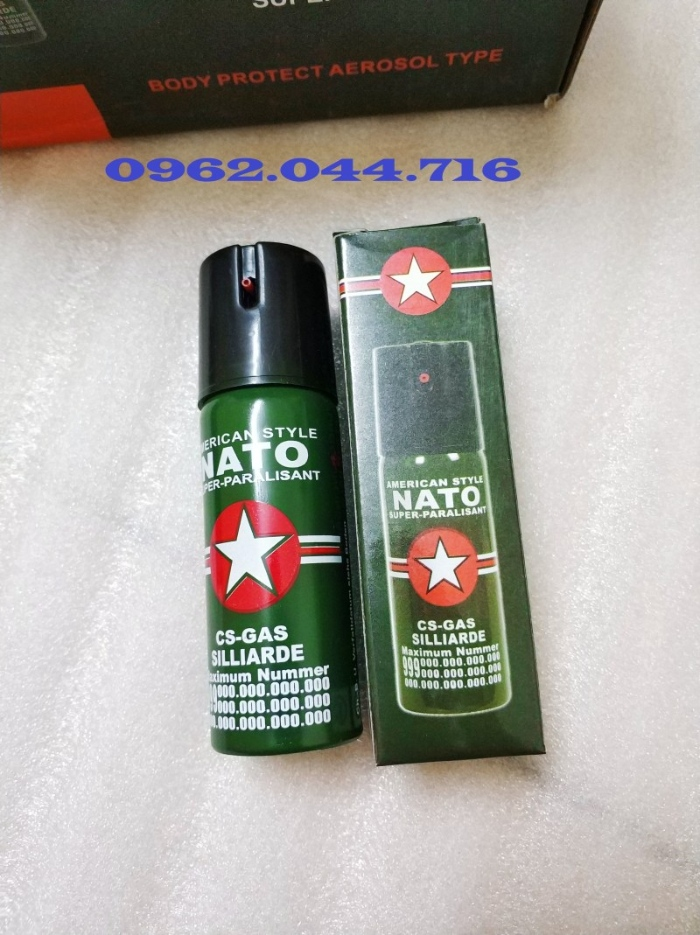 Xịt cay Nato nhỏ (60ML) là sản phẩm tự vệ cực kỳ an toàn và hiệu quả